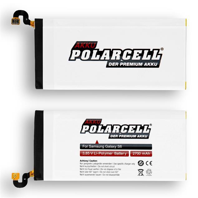 PolarCell Li-Polymer Akku für Samsung Galaxy S6 (SM-G920F)