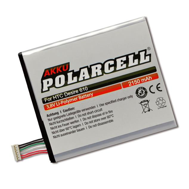 PolarCell Li-Polymer Akku für HTC Desire 610 (D610n)