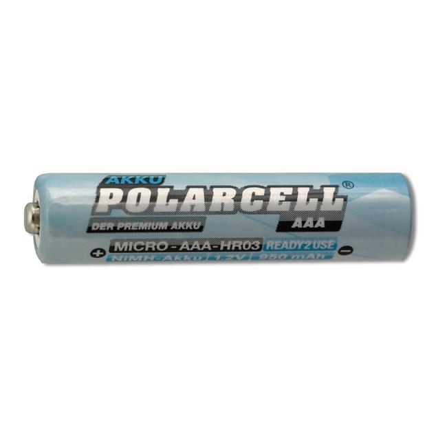 PolarCell Ready to Use (RTU) Micro | AAA | HR03 | KR03 | LR03 | R3 | L3 Ni-MH Akku [4er-Blister]