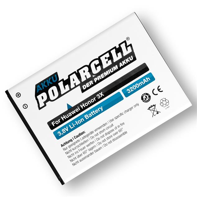 PolarCell Li-Ion Battery replaces original Huawei HB476387RBC