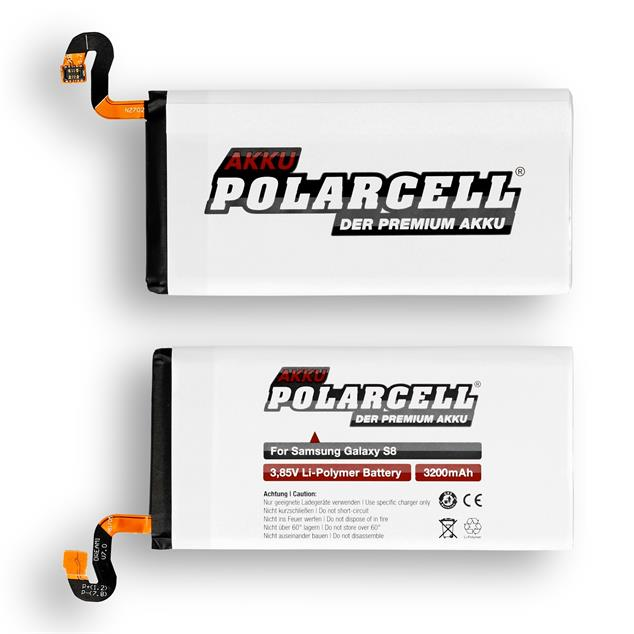 PolarCell Li-Polymer Replacement Battery for Samsung Galaxy S8 (SM-G950F)