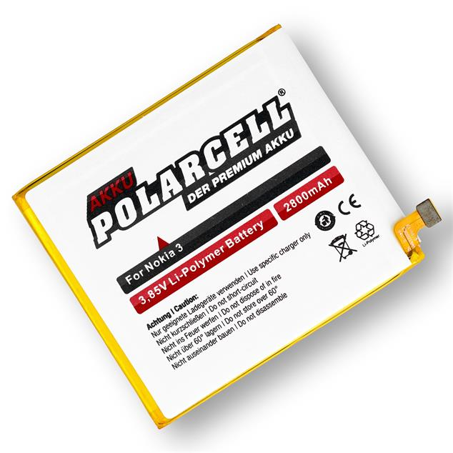 PolarCell Li-Polymer Replacement Battery for Nokia 3 | 3 Dual Sim