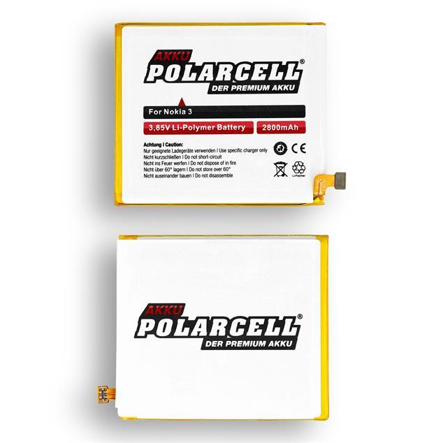 PolarCell Li-Polymer Akku ersetzt Originalakku Nokia HE319