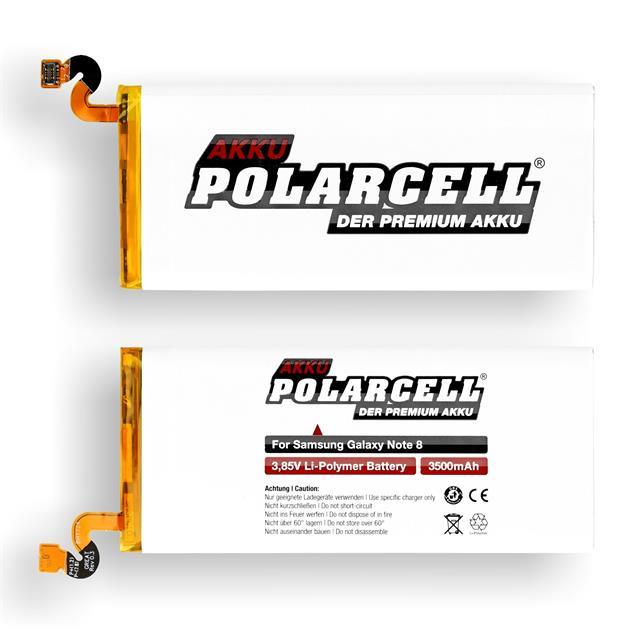 PolarCell Li-Polymer Akku für Samsung Galaxy Note 8 (SM-N950F)