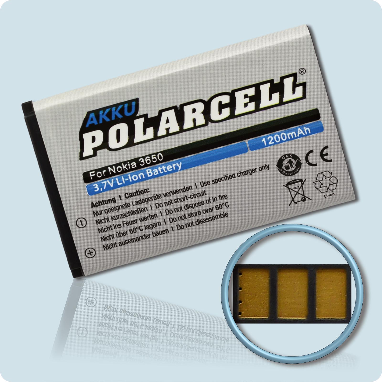 PolarCell® Hochleistungsakku für Nokia 1680, ersetzt Originalakku BL-5C  BL-5CA  BL-5CB