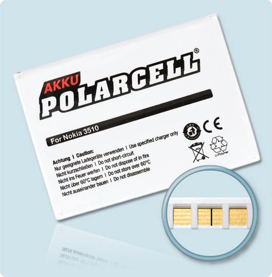 PolarCell® Hochleistungsakku für Nokia 3510, ersetzt Originalakku  BLC-2