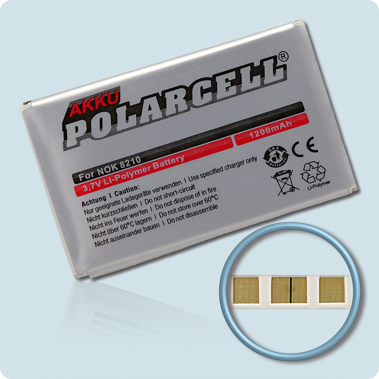 PolarCell® Hochleistungsakku für Nokia 8210, ersetzt Originalakku BLB-2