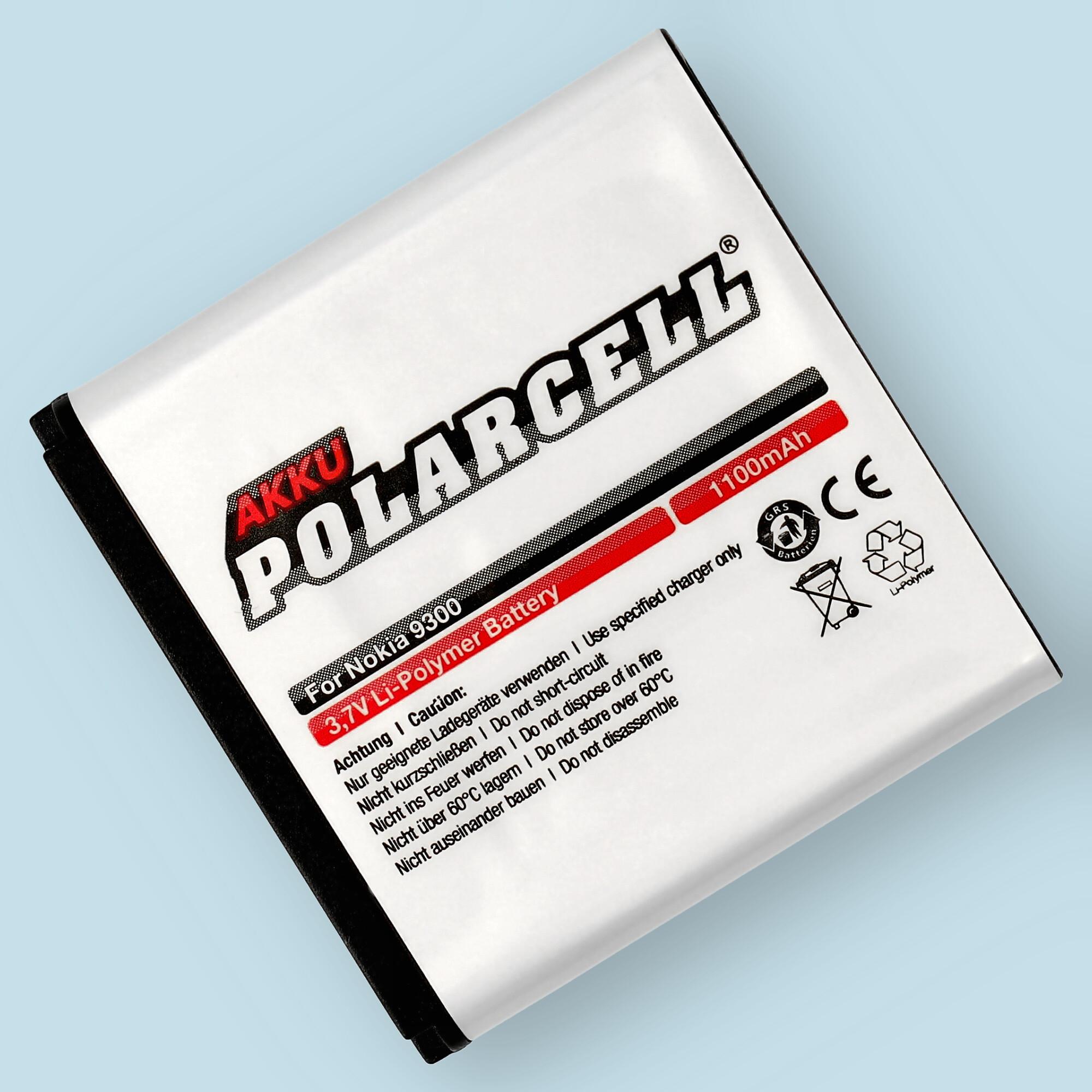PolarCell® Hochleistungsakku für Nokia 9300, ersetzt Originalakku BP-6M