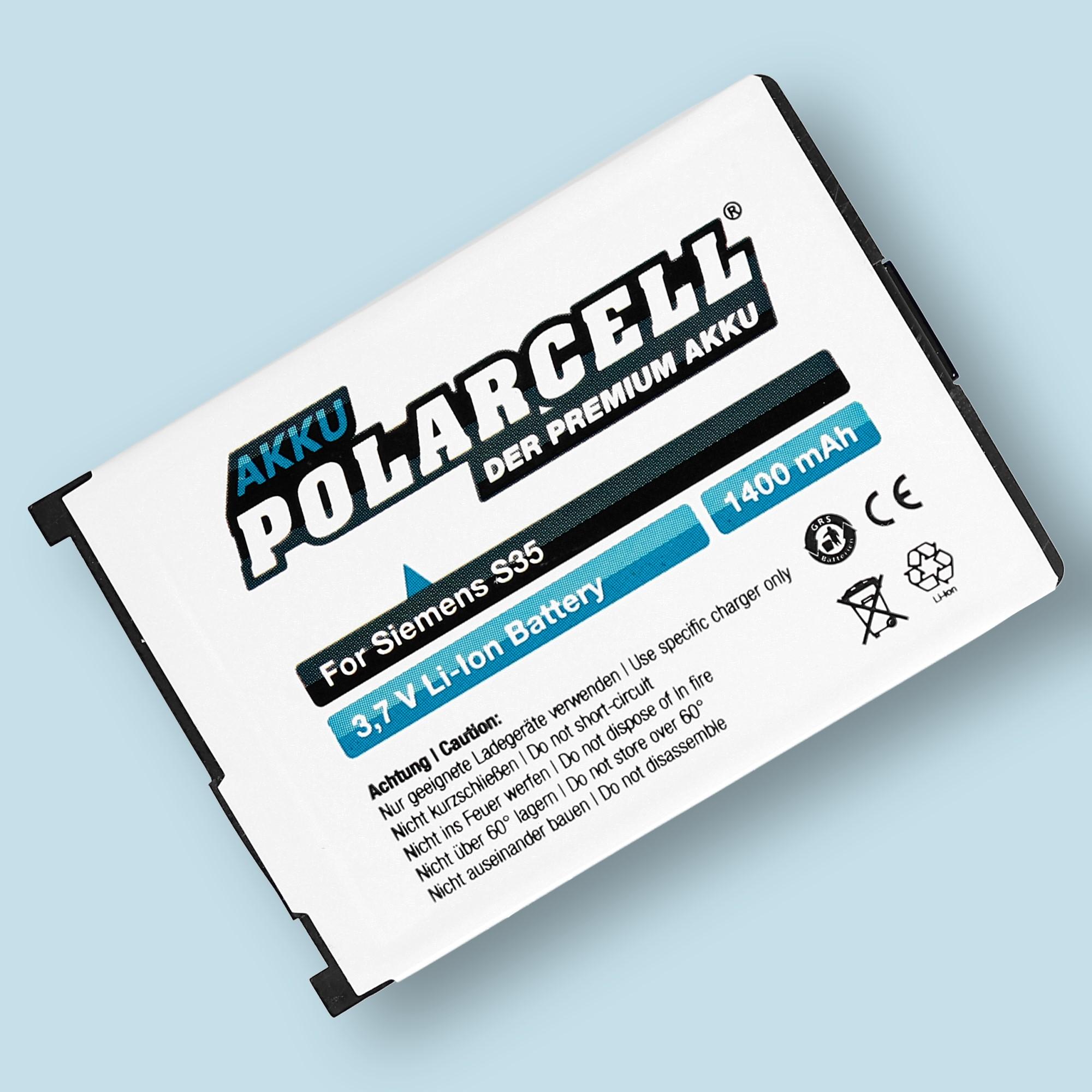 PolarCell® Hochleistungsakku für Siemens S35 / S35i
