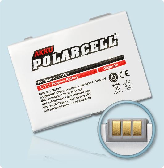 PolarCell® Hochleistungsakku für Siemens CF62, ersetzt Originalakku EBA-670