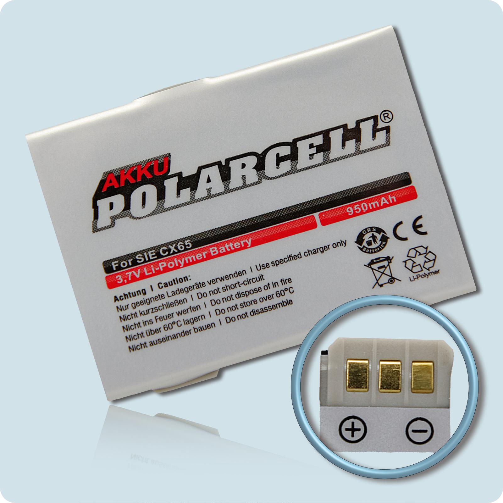 PolarCell® Hochleistungsakku für Siemens CX65, ersetzt Originalakku  EBA-670