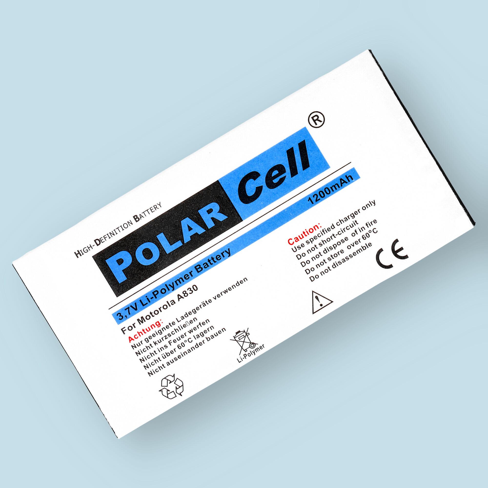 PolarCell® Hochleistungsakku für Motorola A835