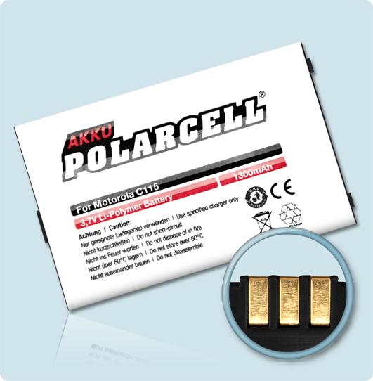 PolarCell Hochleistungs-Akku für Motorola C115 / C116 / C117 / C118 / C139 / C155 / C156 / V171