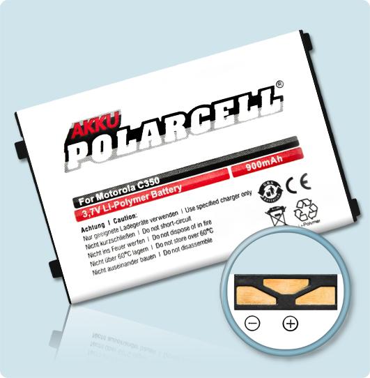 PolarCell® Hochleistungsakku für Motorola C250