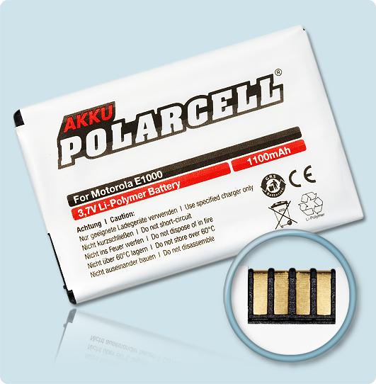 PolarCell® Hochleistungsakku für Motorola E770v, ersetzt Originalakku BT60