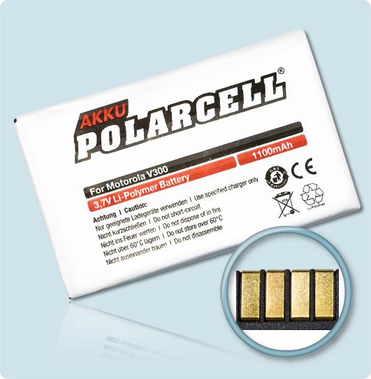 PolarCell® Hochleistungsakku für Motorola A630, ersetzt Originalakku BA600