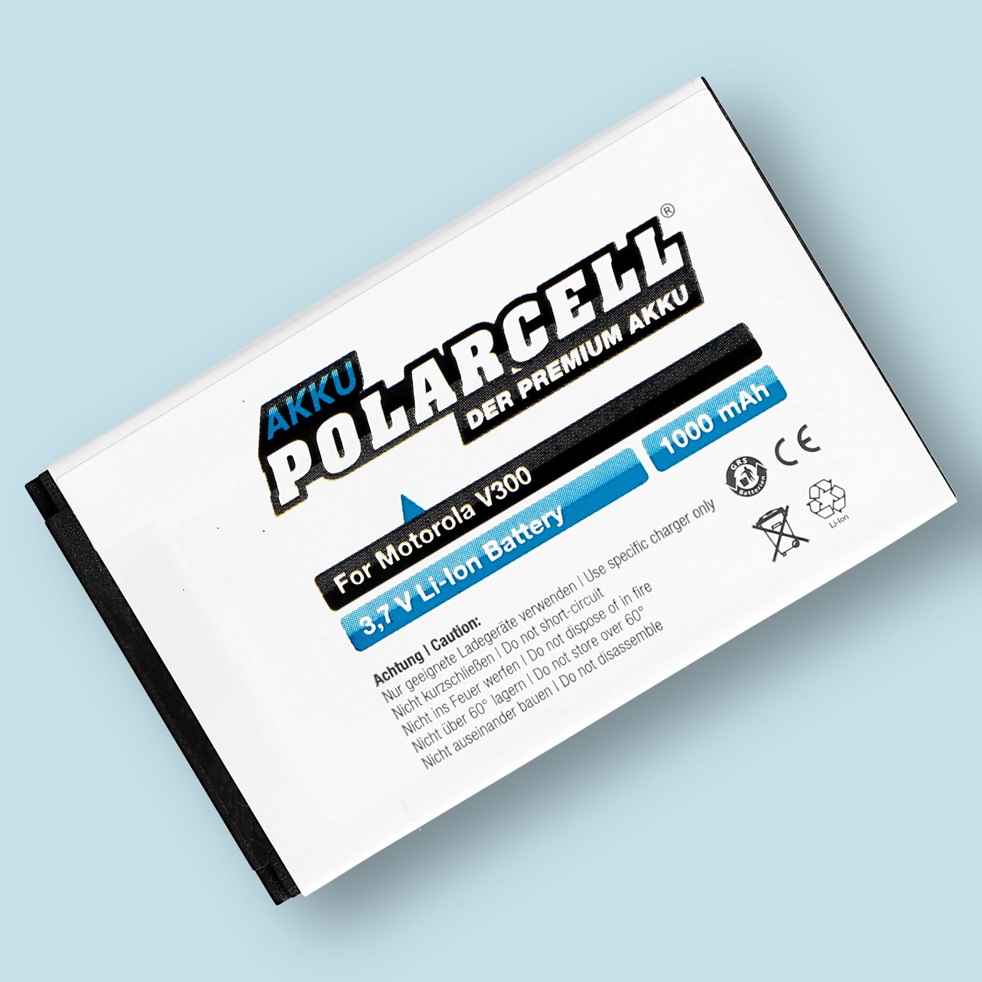 PolarCell® Hochleistungsakku für Motorola E550, ersetzt Originalakku BA600