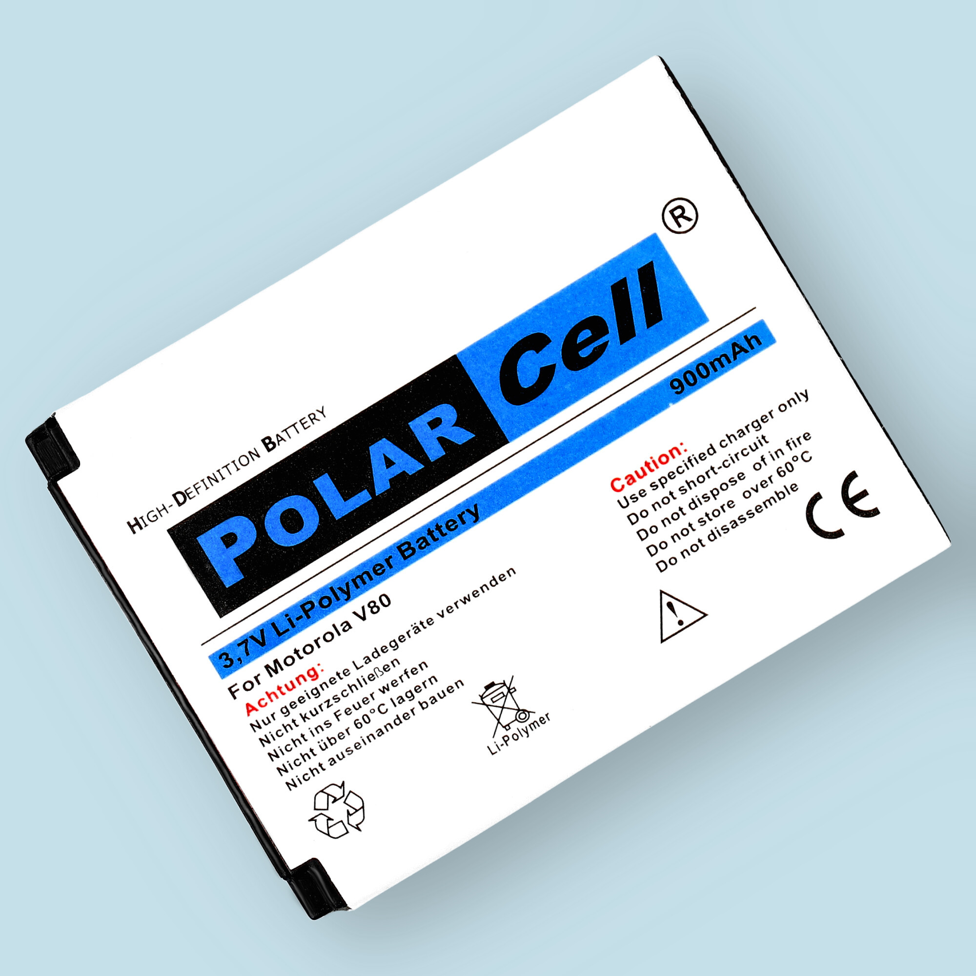 PolarCell® Hochleistungsakku für Motorola V80