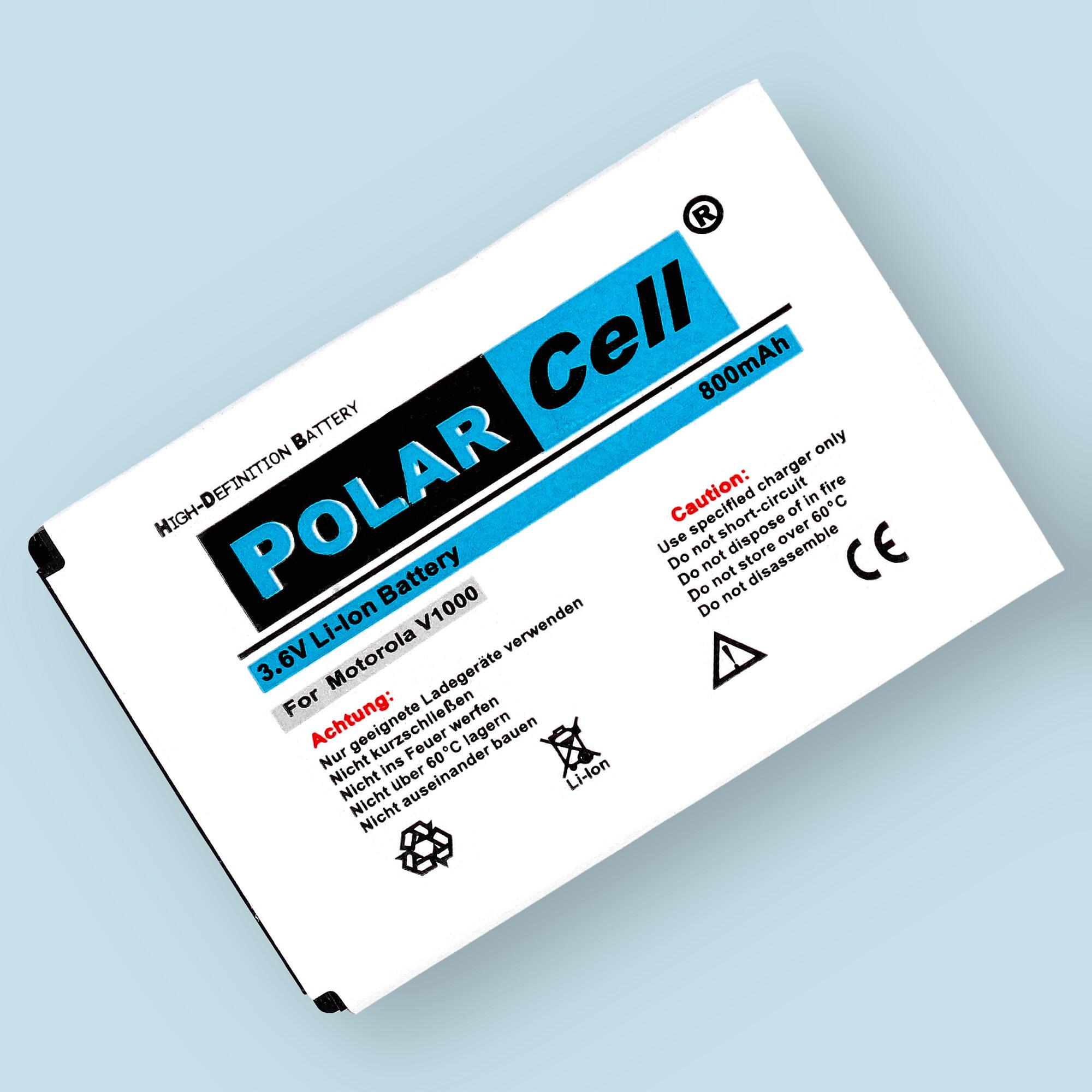 PolarCell® Hochleistungsakku für Motorola V1000