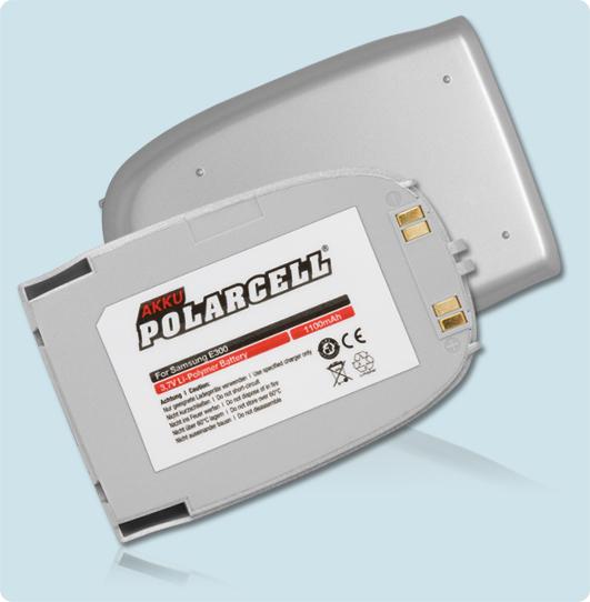 PolarCell® Hochleistungsakku für Samsung SGH-E300, ersetzt Originalakku BST3058SE
