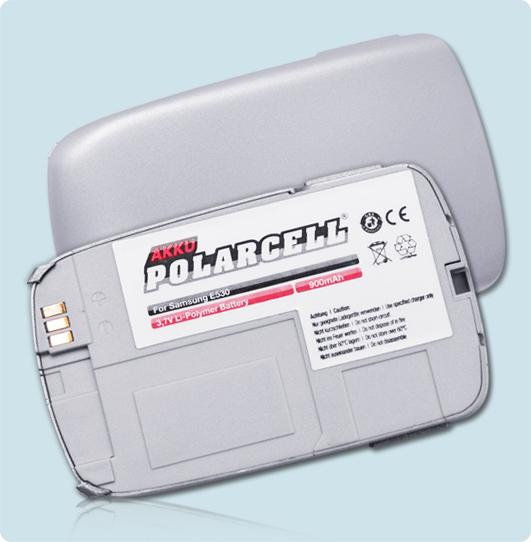 PolarCell® Hochleistungsakku für Samsung SGH-E530, ersetzt Originalakku BST4028KE - PE