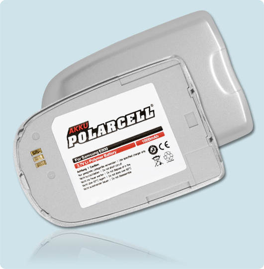 PolarCell® Hochleistungsakku für Samsung SGH-E800, ersetzt Originalakku BST2927SE - VE