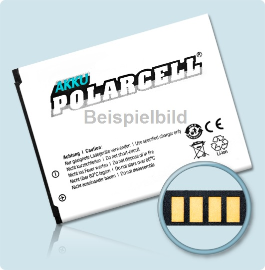 PolarCell® Hochleistungsakku für Samsung SGH-N100, ersetzt Originalakku BTSN10GBS