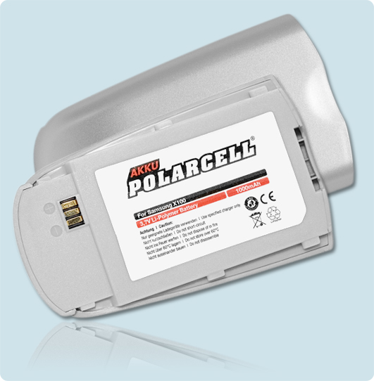 PolarCell® Hochleistungsakku für Samsung SGH-X100