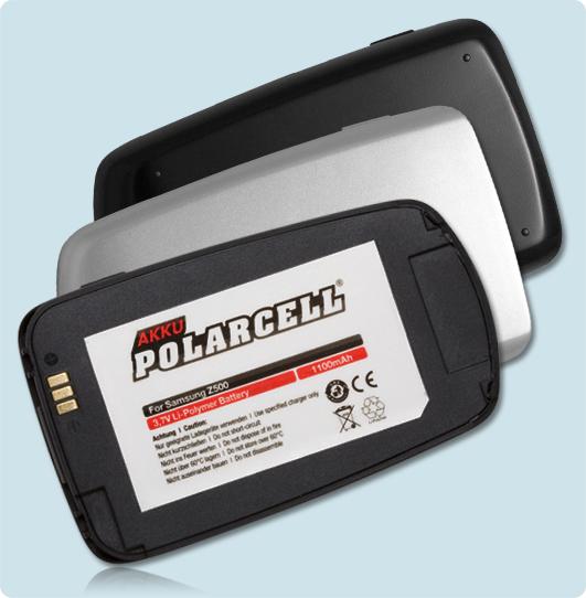 PolarCell® Hochleistungsakku für Samsung SGH-Z500, ersetzt Originalakku BST4299BE