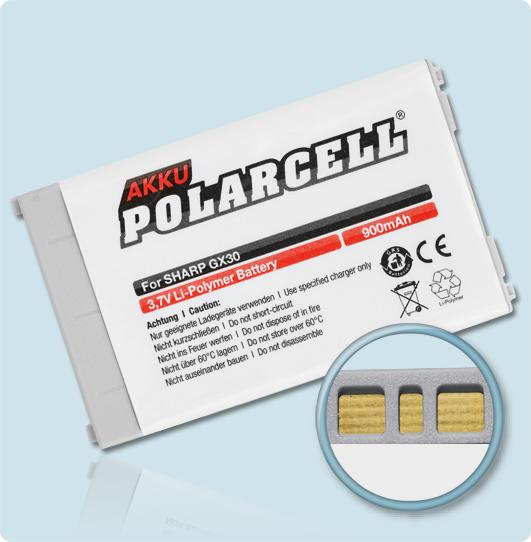PolarCell® Hochleistungsakku für Sharp GX17, ersetzt Originalakku XN-1BT30