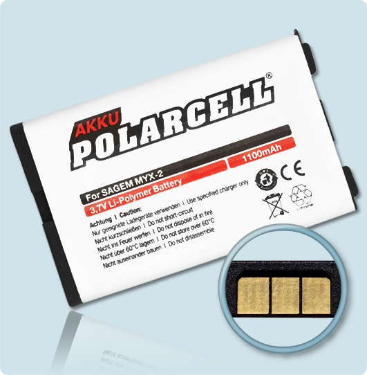 PolarCell® Hochleistungsakku für Sagem myX-2