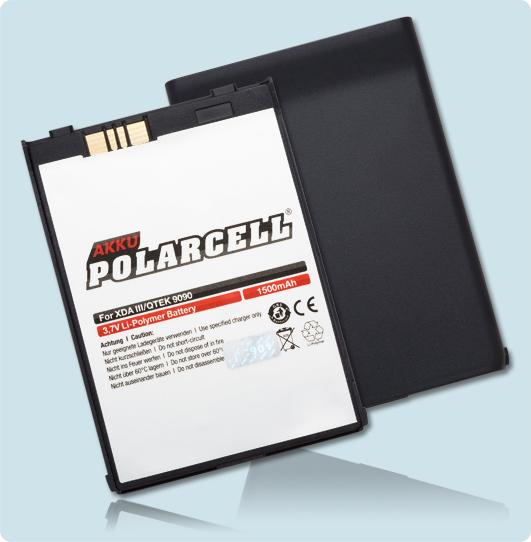 PolarCell® Hochleistungsakku für Qtek 9090, ersetzt Originalakku PH26B