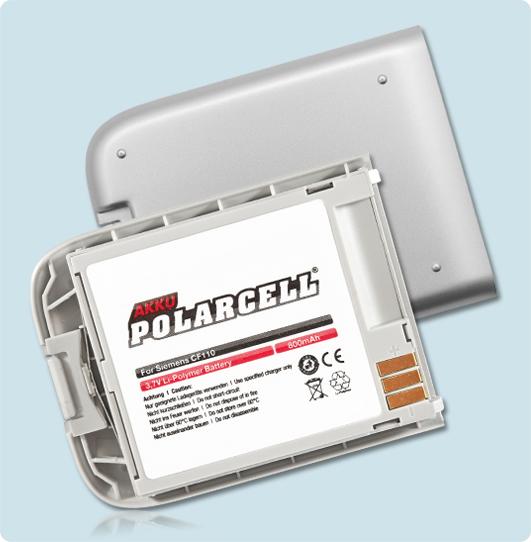 PolarCell® Hochleistungsakku für Siemens CF110, ersetzt Originalakku EBA-180 - EBA-190