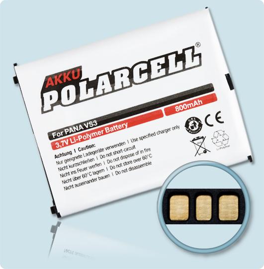PolarCell® Hochleistungsakku für Panasonic VS3