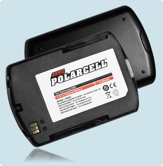 PolarCell® Hochleistungsakku für Samsung SGH-i300, ersetzt Originalakku BST421ABE