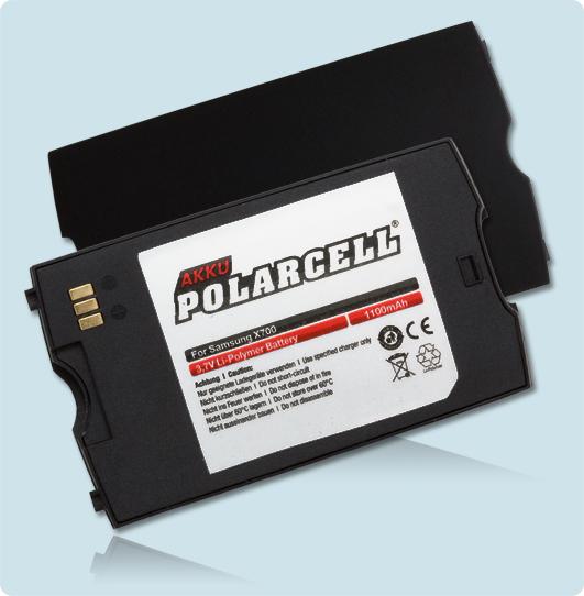 PolarCell® Hochleistungsakku für Samsung SGH-X700, ersetzt Originalakku BST4609BE