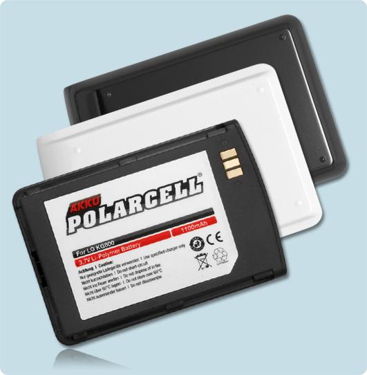 PolarCell® Hochleistungsakku für LG White Chocolate KG800, ersetzt Originalakku BSL-KG800w