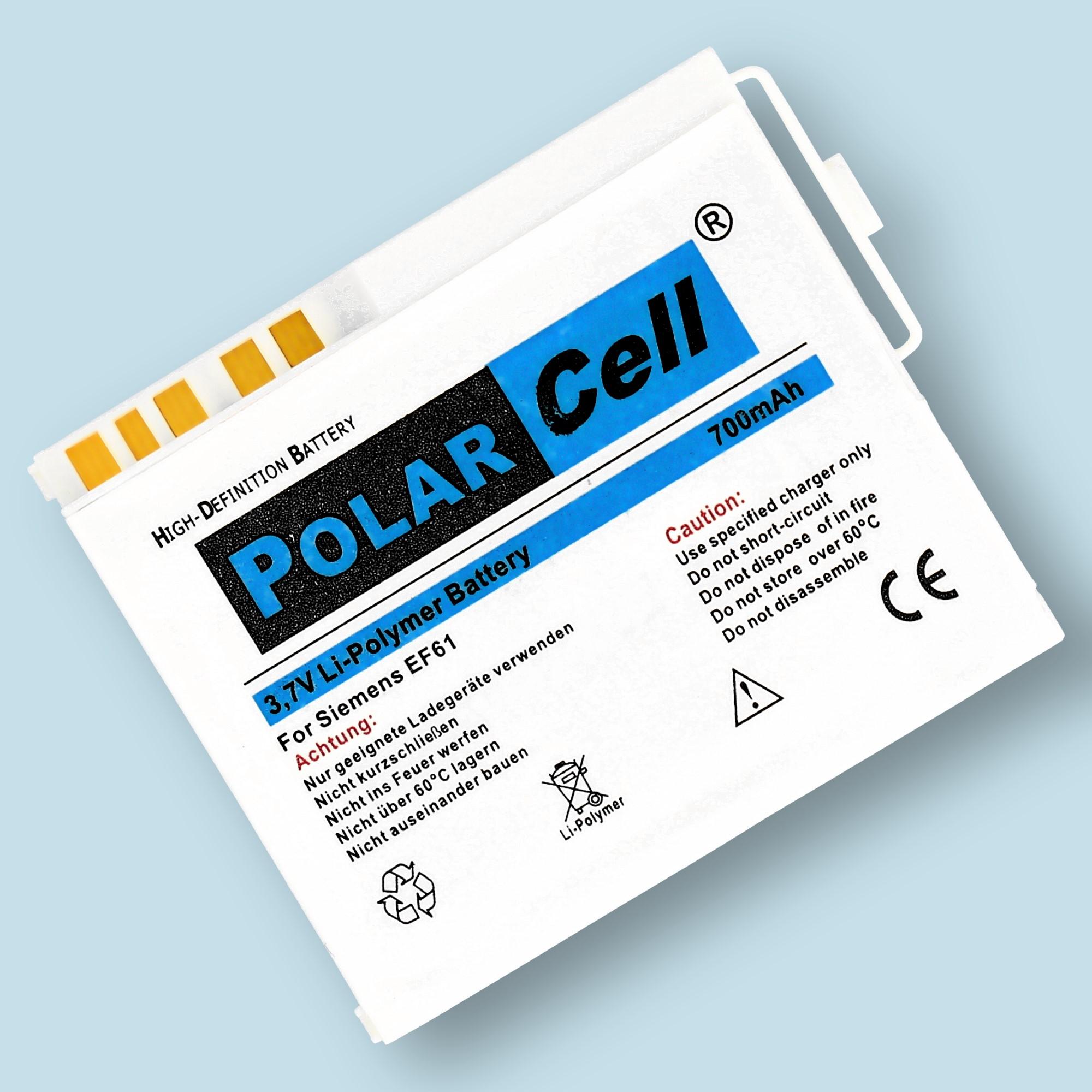 PolarCell® Hochleistungsakku für Siemens E61, ersetzt Originalakku EBA-162