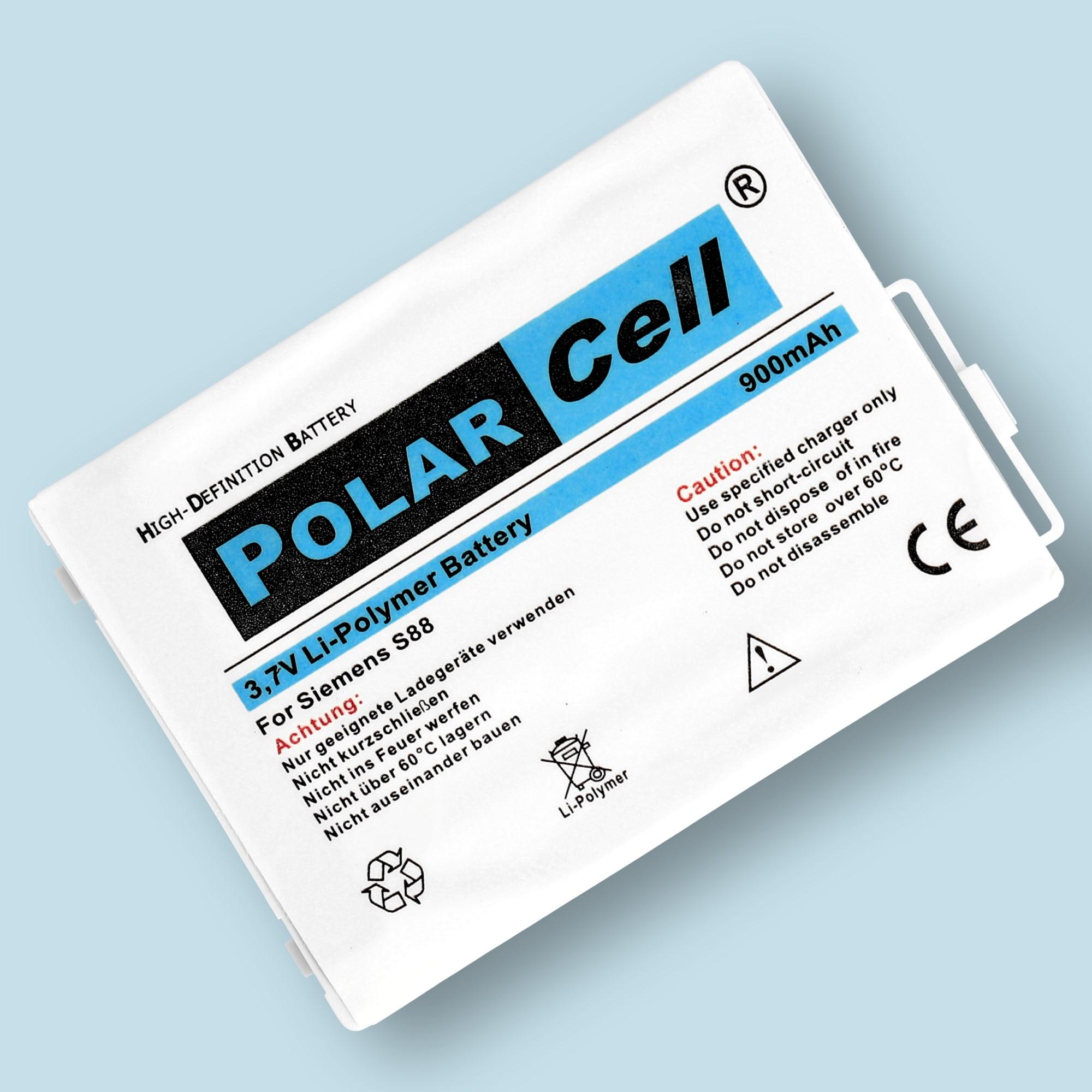 PolarCell Hochleistungs-Akku ersetzt Originalakku BenQ-Siemens PLI-104