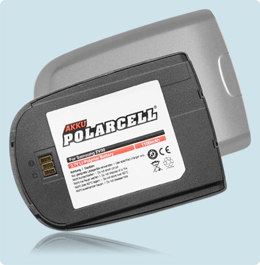PolarCell® Hochleistungsakku für Samsung SGH- ZV30, ersetzt Originalakku BST474ASE