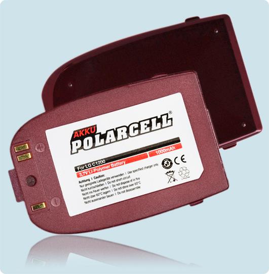 PolarCell® Hochleistungsakku für LG C1200, ersetzt Originalakku BSL-65G