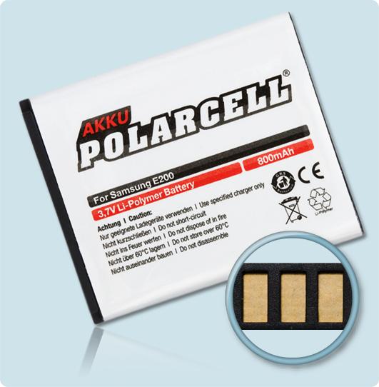 PolarCell® Hochleistungsakku für Samsung J150, ersetzt Originalakku AB483640DE