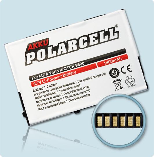 PolarCell® Hochleistungsakku für MDA Vario 2, ersetzt Originalakku HERM160