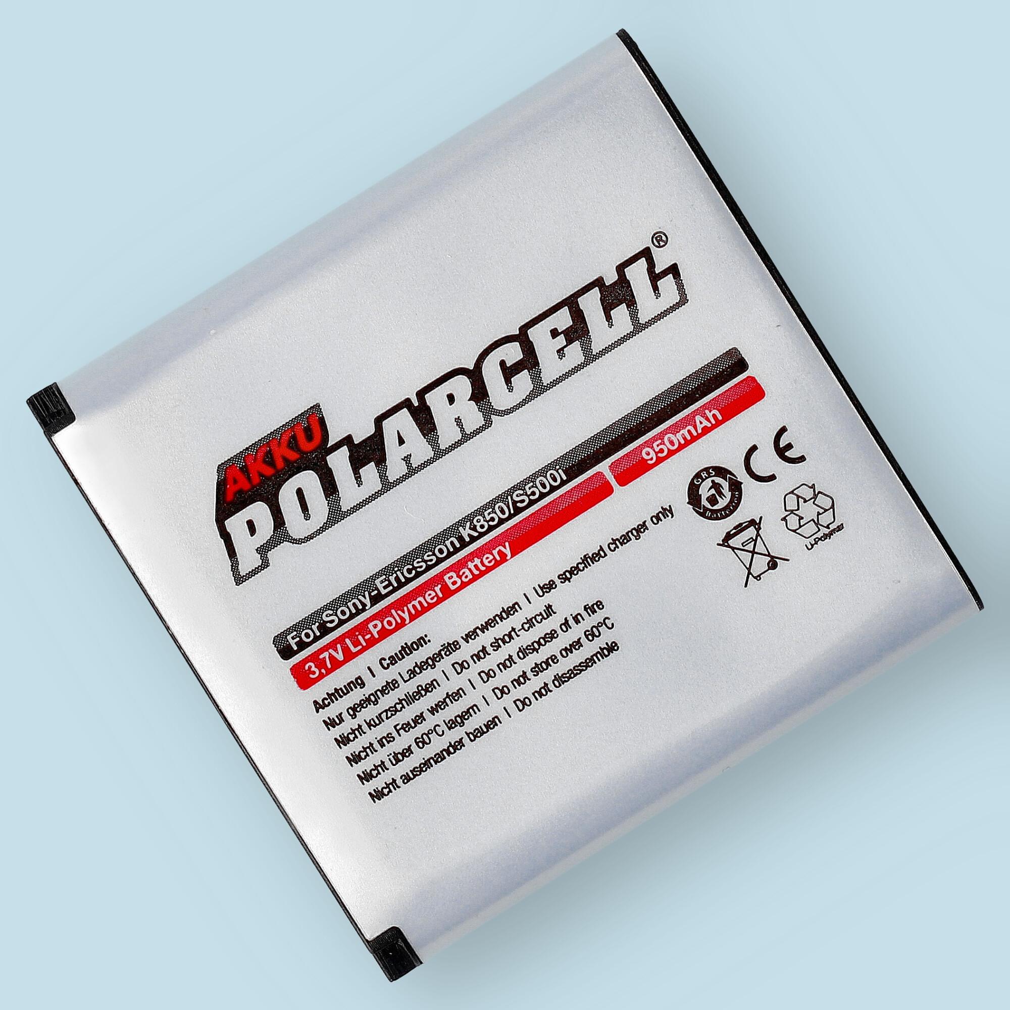 PolarCell® Hochleistungsakku für Sony-Ericsson K850i, ersetzt Originalakku BST-38