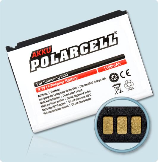 PolarCell® Hochleistungsakku für Samsung SGH-i600, ersetzt Originalakku AB663450CE - CU