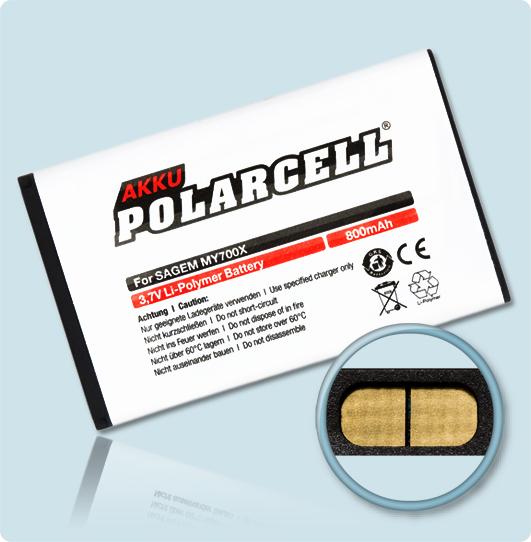PolarCell Hochleistungs-Akku für Sagem my419X / my700X