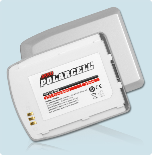 PolarCell® Hochleistungsakku für LG KE500, ersetzt Originalakku LGLP-GBIM