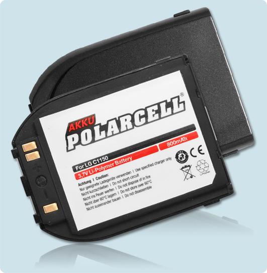 PolarCell® Hochleistungsakku für LG C1150, ersetzt Originalakku LGLP-GADM