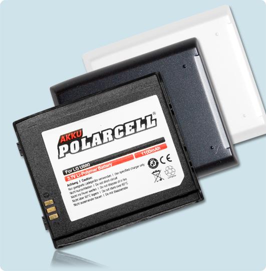 PolarCell® Hochleistungsakku für LG U8500, ersetzt Originalakku LGLP-GACM