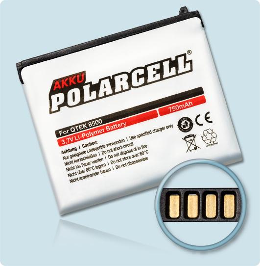 PolarCell® Hochleistungsakku für Qtek 8500, ersetzt Originalakku STAR160